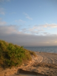 Dusk Light on Lake Michigan Beach - Places
